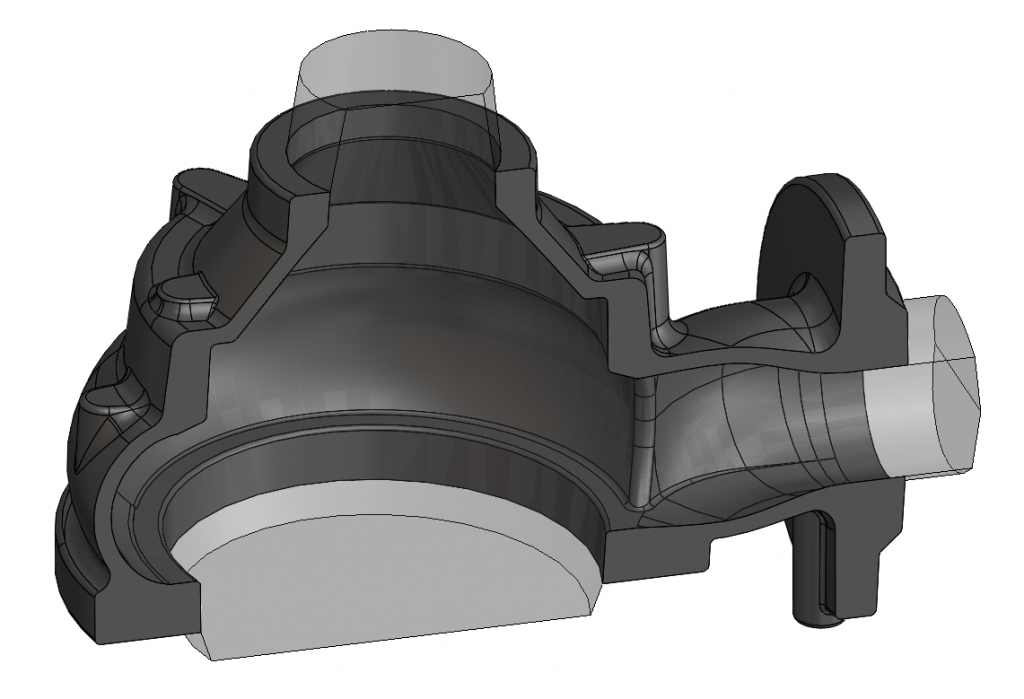 3D návrh - čerpadlo SPIRAM